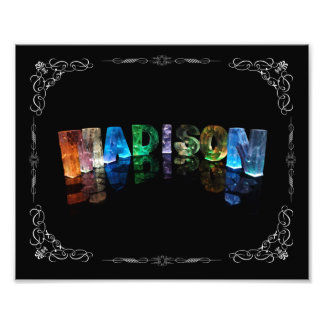 The Name Madison in 3D Lights (Photograph) Photo Print