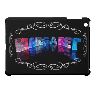 The Name Margaret in 3D Lights (Photograph) Case For iPad Mini