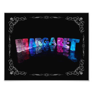 The Name Margaret in 3D Lights (Photograph) Photo Print