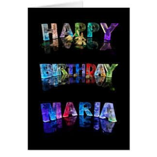 The Name Maria in 3D Lights (Photogarph) Card