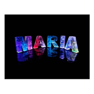 The Name Maria in 3D Lights (Photogarph) Postcard