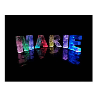 The Name Marie in 3D Lights (Photogarph) Postcard