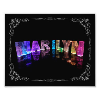The Name Marilyn in 3D Lights (Photograph) Photo Print
