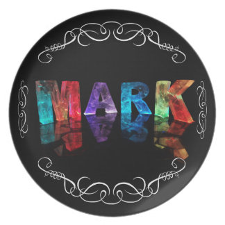 The Name Mark in 3D Lights (Photograph) Plate