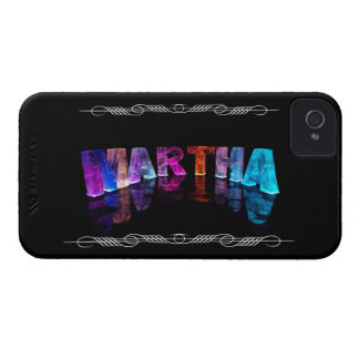The Name Martha in 3D Lights (Photograph) iPhone 4 Cover