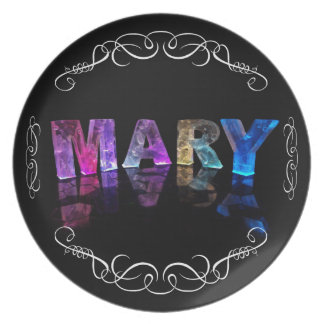 The Name Mary in 3D Lights (Photograph) Plate