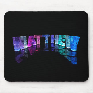 The Name Matthew in 3D Lights (Photograph) Mousemat