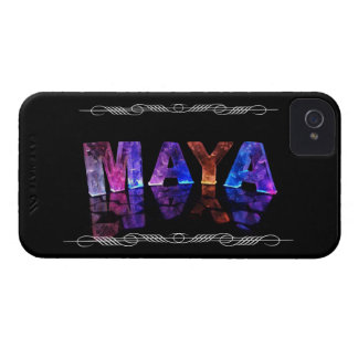 The Name Maya in 3D Lights (Photograph) Case-Mate iPhone 4 Cases