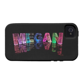 The Name Megan in 3D Lights (Photograph) Vibe iPhone 4 Cases