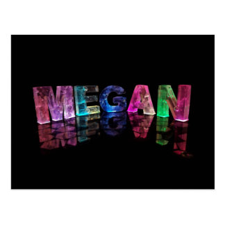 The Name Megan in 3D Lights (Photograph) Postcard