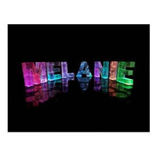 The Name Melanie in 3D Lights (Photograph) Postcard