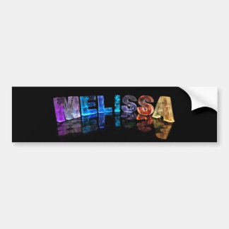 The Name Melissa in 3D Lights (Photograph) Bumper Sticker