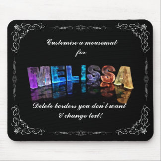 The Name Melissa in 3D Lights (Photograph) Mouse Pad