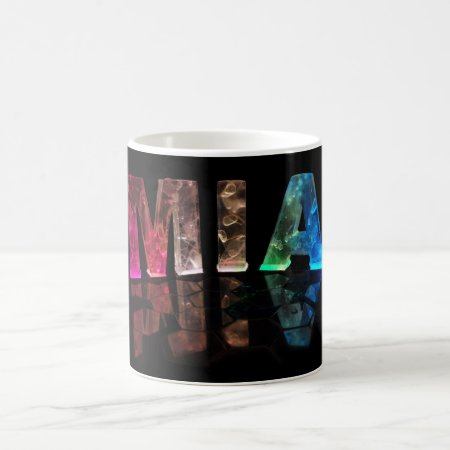The Name Mia in 3D Lights (Photograph) Coffee Mugs