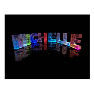 The Name Michelle in 3D Lights (Photograph) Postcard