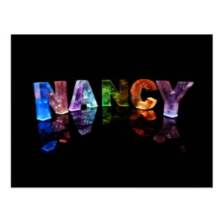 The Name Nancy in 3D Lights (Photograph) Postcard