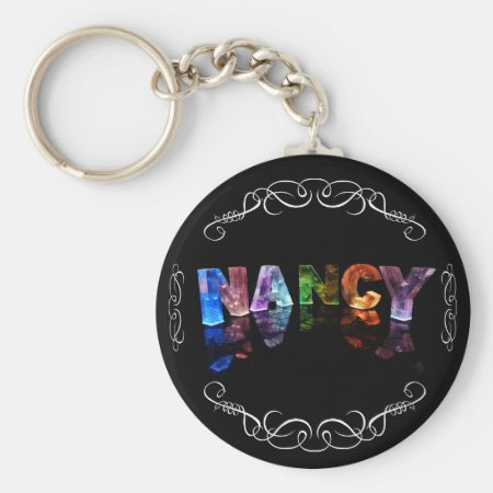 The Name Nancy - Name in Lights (Photograph) Keychain