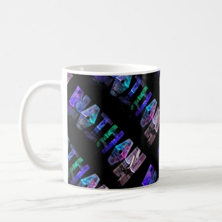 The Name Nathan in 3D Lights (Photograph) Mugs