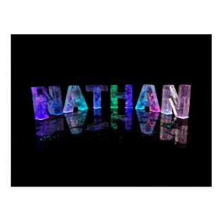 The Name Nathan in 3D Lights (Photograph) Postcard
