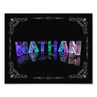 The Name Nathan -  Name in Lights (Photograph Photo Print