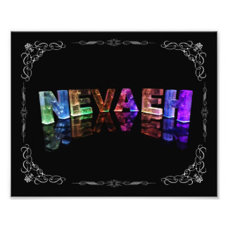 The Name Nevaeh -  Name in Lights (Photograph) Photo Print