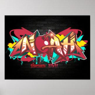 The name Noah in graffiti Poster