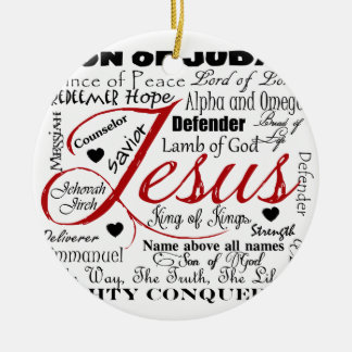 The Name of Jesus Ceramic Ornament