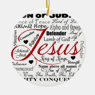 The Name of Jesus Ceramic Ornament