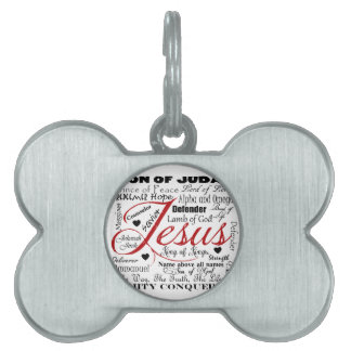 The Name of Jesus Pet ID Tag