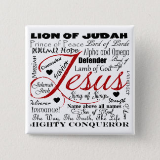 The Name of Jesus Pinback Button