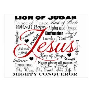 The Name of Jesus Postcard