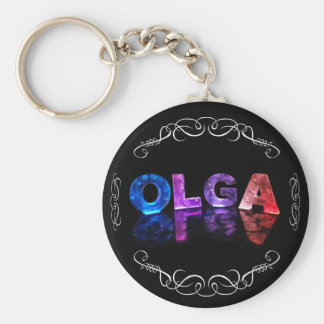 The Name Olga -  Name in Lights (Photograph) Keychain