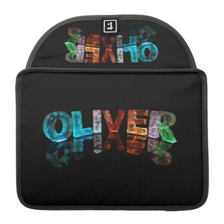 The Name Oliver in 3D Lights (Photograph) Sleeves For MacBook Pro