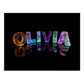 The Name Olivia in 3D Lights (Photograph) Postcard