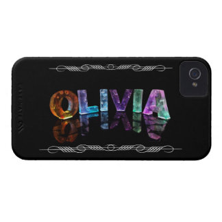 The Name Olivia -  Name in Lights (Photograph) iPhone 4 Cover