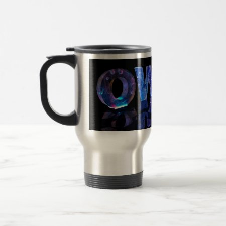 The Name Owen in 3D Lights (Photograph) Coffee Mug