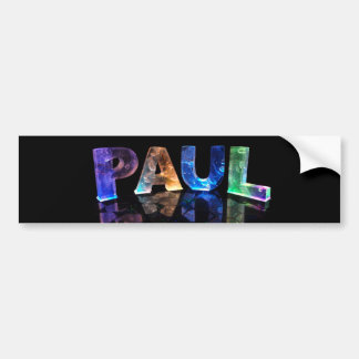 The Name Paul in 3D Lights (Photograph) Bumper Sticker