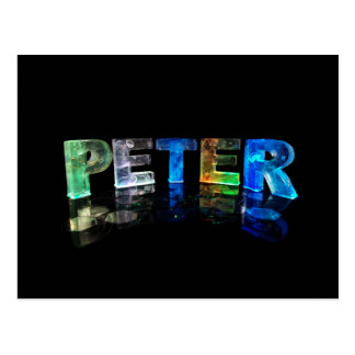 The Name Peter in 3D Lights (Photograph) Postcard