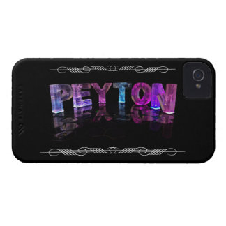 The Name Peyton -  Name in Lights (Photograph) Case-Mate iPhone 4 Case