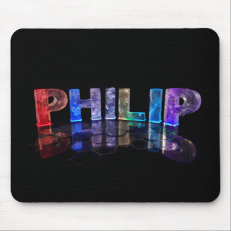 The Name Philip in 3D Lights (Photograph) Mouse Pad