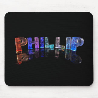 The Name Phillip in 3D Lights (Photograph) Mouse Pad