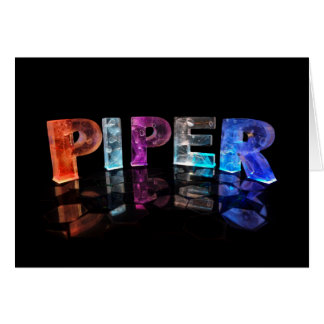 The Name Piper in 3D Lights (Photograph) Card