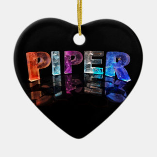 The Name Piper in 3D Lights (Photograph) Ceramic Ornament