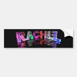 The Name Rachel in 3D Lights (Photograph) Bumper Sticker