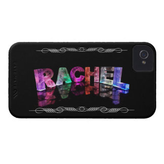 The Name Rachel in 3D Lights (Photograph) iPhone 4 Case