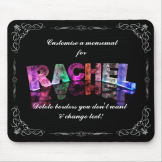The Name Rachel in 3D Lights (Photograph) Mouse Pad