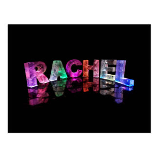 The Name Rachel in 3D Lights (Photograph) Postcard