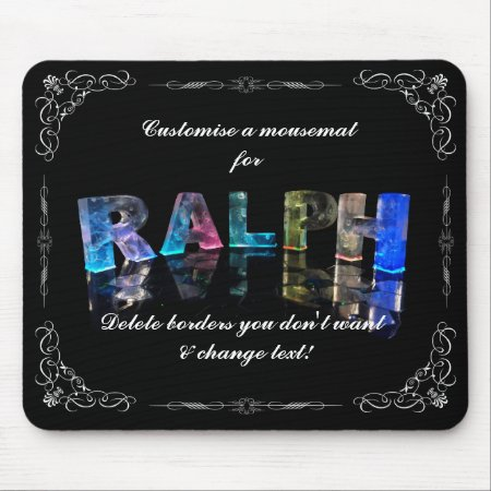The Name Ralph in 3D Lights (Photograph) Mousepad