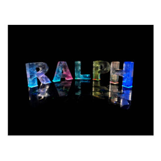 The Name Ralph in 3D Lights Photograph Post Cards