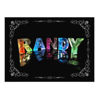 The Name Randy in 3D Lights (Photograph) Photo Print